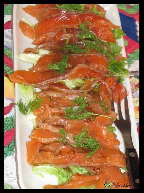 Gravlax Salmon Dish