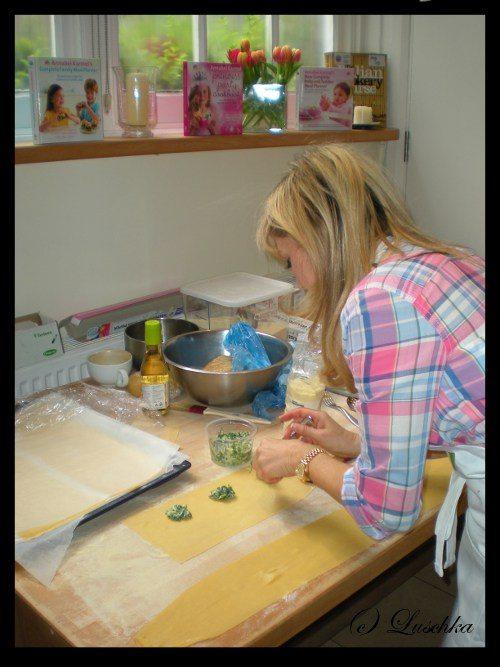Annabel Karmel making ravioli