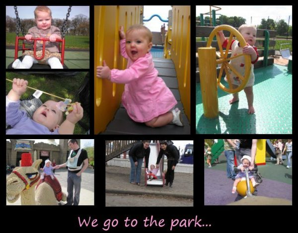 We got to the park...
