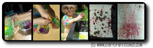 Painting with waterbeads