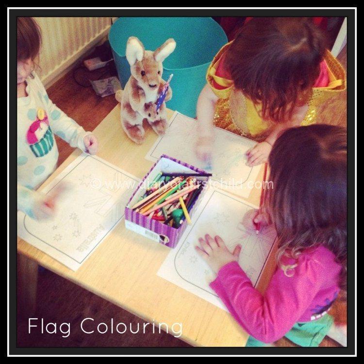 Australia Day Flag Colouring
