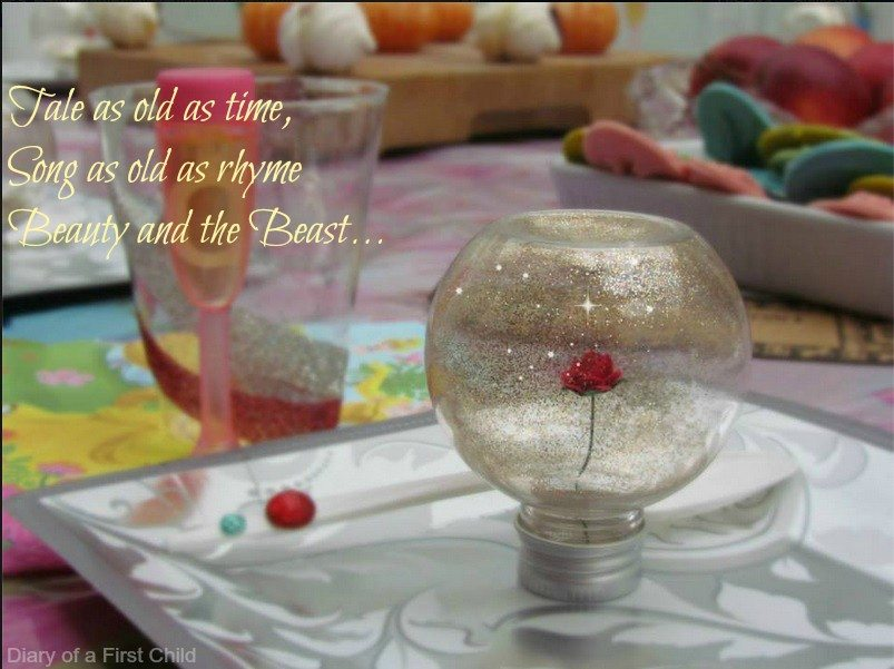 Beauty And The Beast Rose Table Decorations & Thank You Gifts