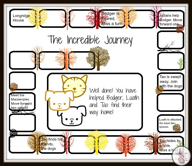 The Incredible Journey Boardgame