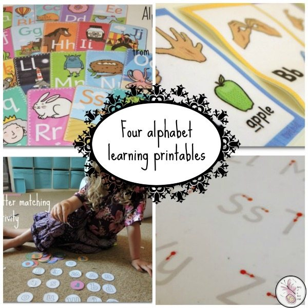 Four Printables For Alphabet Learning