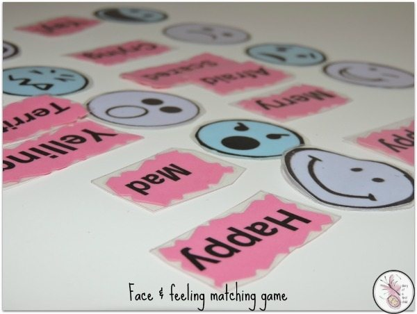 Face and Feeling Matching Game